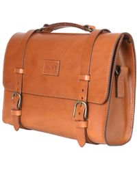 THE DUST COMPANY Briefcase In Cuoio Brown