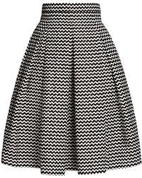 Rumour London Ravello Chevron Midi Skirt - Black