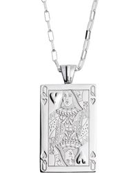 Sarah Ho - Sho - Casino Queen Of Hearts Playing Card Pendant - Lyst
