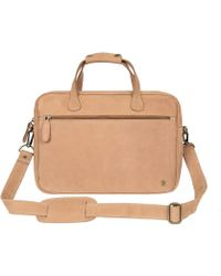 MAHI - Compact Leather Satchel Bag In Vintage Cognac - Lyst