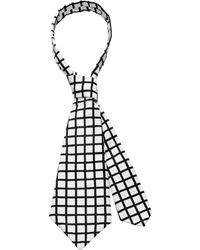 Scenery Label - Grid Necktie - Lyst