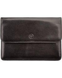 925f652c6d6e Maxwell Scott Bags - The Torrino Italian Leather Travel Wallet Black - Lyst