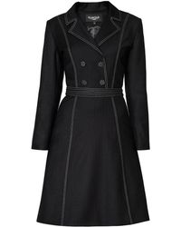 Rumour London   Annabel Virgin Wool Dress With Pleated Back & Contrasting Stitching   Lyst