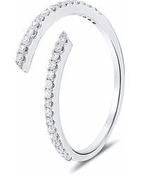 Cosanuova Spiral Diamond Ring 18k White Gold - Metallic