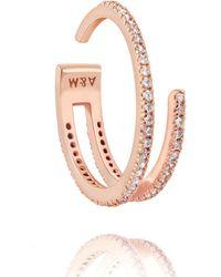 Astrid & Miyu - The Wishbone Ring In Rose Gold - Lyst
