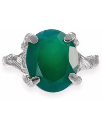 Chupi - Drop In The Wild Ring Green Onyx In Silver - Lyst