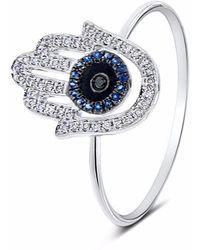 Cosanuova - Crisscross Diamond Ring 18k Yellow Gold - Lyst