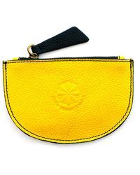 Nadia Minkoff Curve Coin Purse Yellow