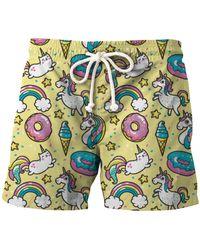 Aloha From Deer Unicorn Heaven Shorts - Multicolour