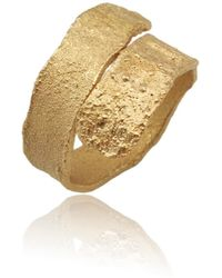 Karolina Bik Jewellery Algae Ring Gold - Metallic