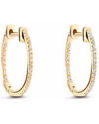 Cosanuova Small Diamond Hoops 18k Yellow Gold - Metallic