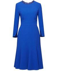 Rumour London Christina Royal Blue Fluted Dress