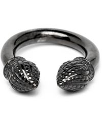 Durrah Jewelry Graphite Cylinder Ring - Black