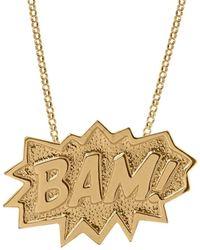 Edge Only Bam Pendant Xl Long In Gold - Multicolour