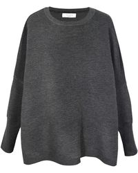 Paisie - Oversized Ribbed Jumper In Charcoal - Lyst