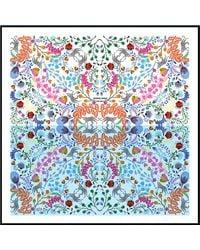 Jessie Zhao New York Silk Scarf With Leopards Reflection - White