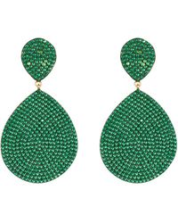LÁTELITA London Monte Carlo Earring Gold Emerald Zircon - Multicolour
