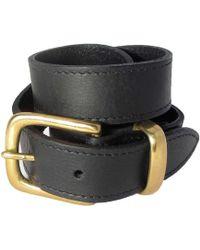 N'damus London - The Orion Black Belt Brass Buckle - Lyst