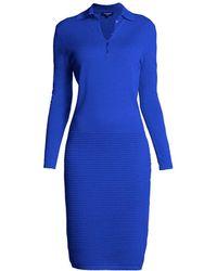 Rumour London - Olivia Azure Blue Soft Merino Wool-blend Dress - Lyst