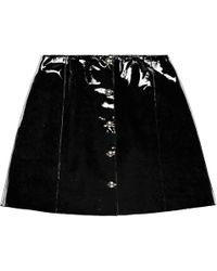VEIL LONDON Black Patent Leather Skirt