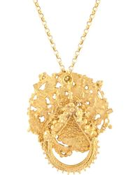 Annabelle Lucilla Jewellery - Atlas Disk & Sikhara Charm Pendant Gold - Lyst