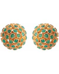 Carousel Jewels | Green Onyx Cluster Studs | Lyst