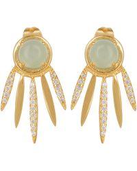 Carousel Jewels - Chalcedony Dreamcatcher Earrings - Lyst