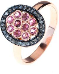 LÁTELITA London Diamond Pink Tourmaline Oval Ring