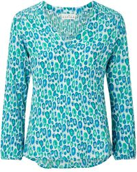 Aspiga Clea Crinkle Blouse Simba Sea Green - Blue