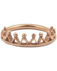 Annabelle Lucilla Jewellery Dainty Stella Crown Ring Rose Gold - Metallic