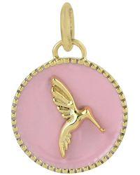 Artisan - Bird Design Charm 14k Yellow Gold Designer Enamel Jewelry - Lyst