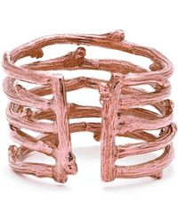 Chupi - Love Is All You Need Twig Ring In Rose Gold - Lyst