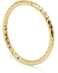 Myia Bonner 9ct Yellow Gold & Black Diamond Solitaire Ring - Metallic