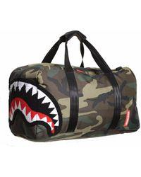 Sprayground Chenille Woodland Shark Duf - Black