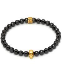 Northskull Black Ceramic & Gold Atticus Skull Bracelet