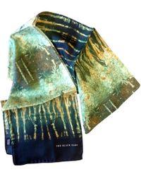 The Black Ears - The Rusty Metal Silk Scarf - Lyst