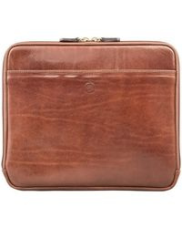 Maxwell Scott Bags | Luxury Brown Samsung Galaxy Tab Leather Cover The Luzzi | Lyst