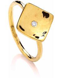Dione London - Vela Diamond Ring - Lyst
