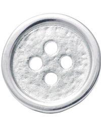 Edge Only Button Lapel Pin Silver - Metallic