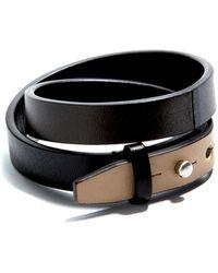 JAM MMXIV - Tri-color Double Wrap Around Bracelet - Lyst