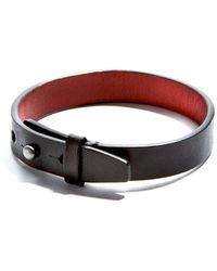JAM MMXIV - Simple Black Leather Bracelet - Lyst