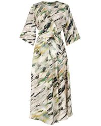 Flow Sensation Midi Wrap Dress - Multicolour
