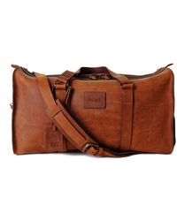 THE DUST COMPANY Mod 123 Duffel Bag In Heritage Brown