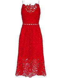 Ukulele Harlow Dress - Red