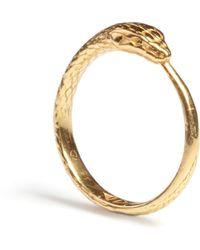 Rachel Entwistle - Ouroboros Snake Ring Gold - Lyst
