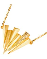 Ona Chan Jewelry - Six Dagger Necklace With Swarovski Crystals Gold - Lyst