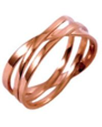 MARIE JUNE Jewelry - Coil Rose Gold Ring - Lyst
