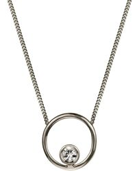 Lee Renee - Halo Necklace White Sapphire & Silver - Lyst