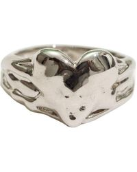 En Route Jewelry Melted Heart Ring Silver - Metallic