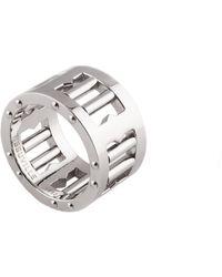 Tissuville Segra Ring Silver Shiny Men - Metallic